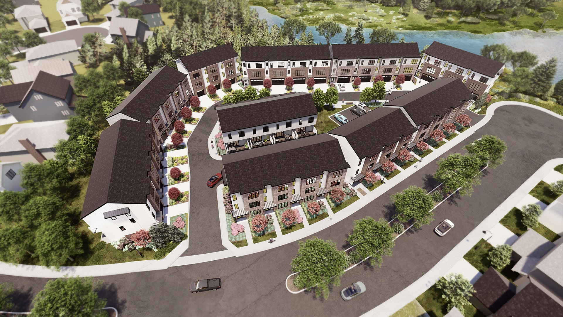 BIRDS EYE -Griffith Point at Discovery Ridge New Townhomes in Discovery Ridge